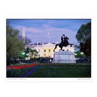Cartão Postal Primavera branco do quadrado de Lafayette da Casa