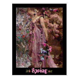 Cartão Postal Primavera, começos novos