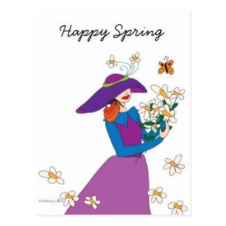 Cartão Postal Primavera feliz