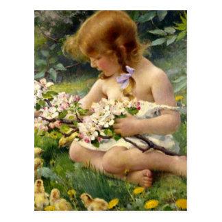 """Cartão Postal """"Primavera' pela páscoa de Franz Dvorak"""