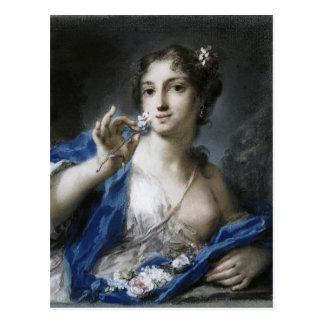 Cartão Postal Primavera por Rosalba Carriera
