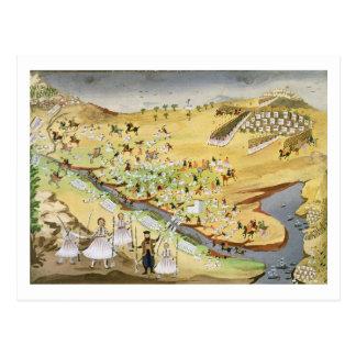 Cartão Postal Primeira batalha entre gregos e turcos, no Alam