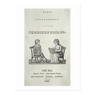 Cartão Postal Primeira demão Cherokee, 1845 (gravura)