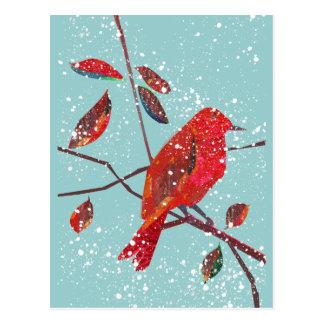 Cartão Postal Primeira época natalícia da neve