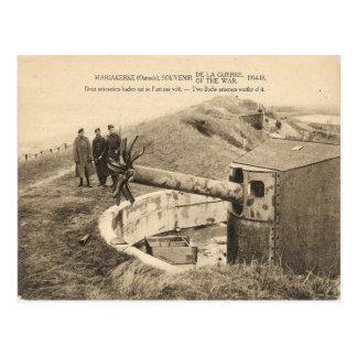 Cartão Postal Primeira Guerra Mundial, Bélgica, Mariakerke,