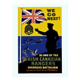 Cartão Postal Primeira Guerra Mundial: Nós vamos guardas