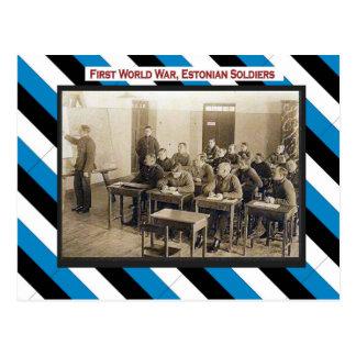 Cartão Postal Primeira Guerra Mundial, sala de aula estónia dos