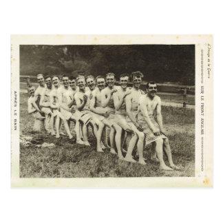 Cartão Postal Primeira Guerra Mundial, soldados britânicos após