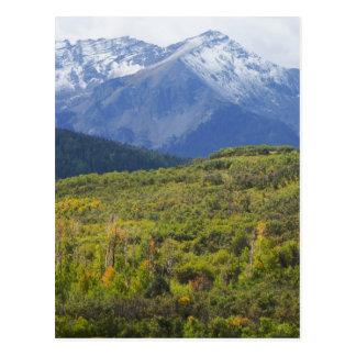 Cartão Postal Primeira neve no San Juan Mts. de Colorado