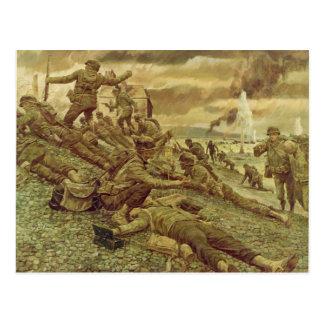 Cartão Postal Primeira onda em Omaha pela segunda guerra mundial