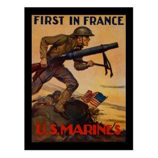 Cartão Postal Primeiramente em France
