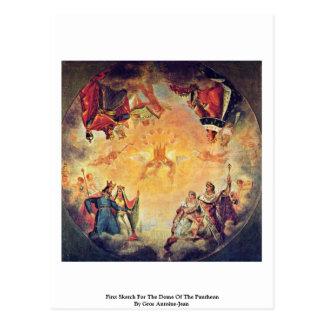 Cartão Postal Primeiro esboço para a abóbada do panteão