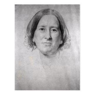 Cartão Postal Primeiro estudo para o retrato de George Eliot