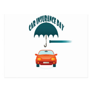 Cartão Postal Primeiro fevereiro - dia do seguro de carro