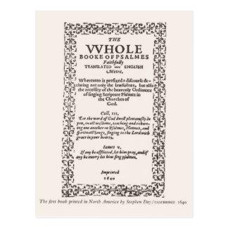 Cartão Postal Primeiro livro impresso em America do Norte 1640