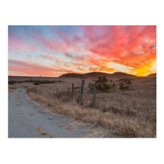 Cartão Postal Primeiro por do sol do dia