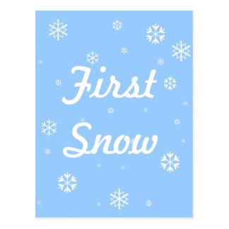 Cartão Postal Primeiros flocos de neve da neve