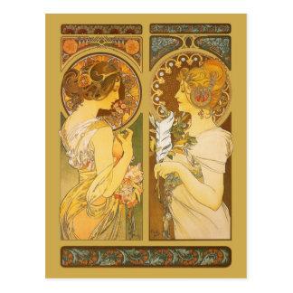 Cartão Postal Prímula & Quill
