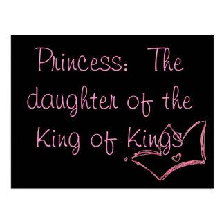 Cartão Postal Princesa:  A filha do rei dos reis