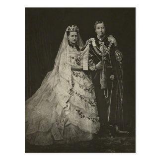 Cartão Postal PRINCESA ALEXANDRA do casamento de Dinamarca