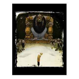 Cartão Postal Princesa com o rei do troll