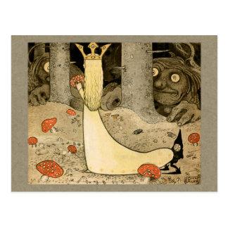 Cartão Postal Princesa Daga e troll CC0807 de John Bauer