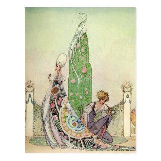 Cartão Postal Princesa de Kay Nielsen e o jardineiro