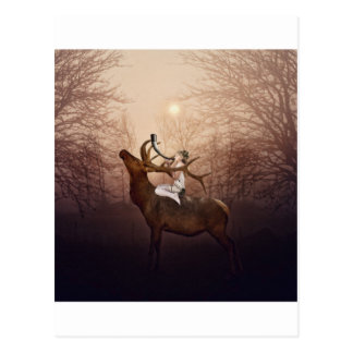 Cartão Postal Princesa do duende e o chifre do veado