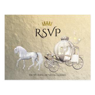 Cartão Postal Princesa real Livro de histórias Carruagem RSVP do
