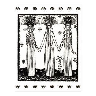 Cartão Postal Princesas no castelo de Soria Moria