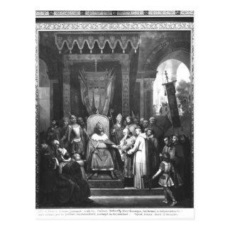Cartão Postal Principal cercado Charlemagne do imperador