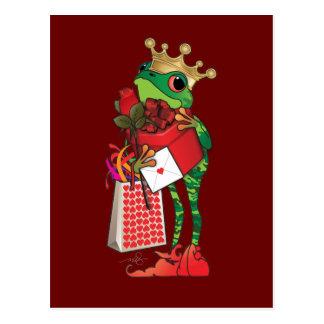 Cartão Postal Príncipe do sapo dos corações