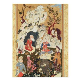 Cartão Postal Príncipe que visita um Ascetic