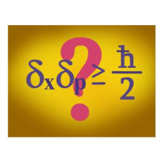 Cartão Postal Princípio de incerteza de Heisenberg
