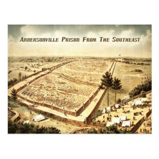Cartão Postal Prisão de Andersonville (acampamento Sumter),