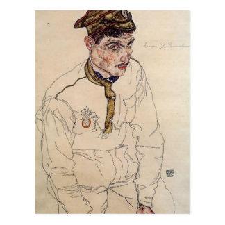 Cartão Postal Prisioneiro de guerra do russo de Egon Schiele-