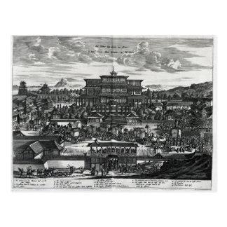 Cartão Postal Procissão de Macau, uma ilustração