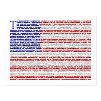 Cartão Postal Proclamação da emancipação