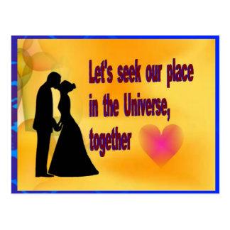 Cartão Postal Procure nosso lugar no universo
