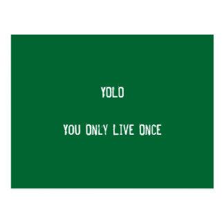 Cartão Postal Produção de YOLO