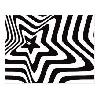 Cartão Postal produto com vetor preto e branco da ilusão da