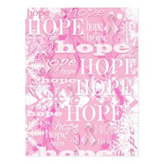 Cartão Postal Produtos da consciência do cancro da mama da