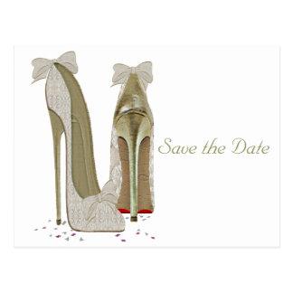 Cartão Postal Produtos de papel dos saltos altos do casamento