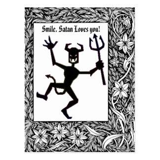 Cartão Postal Produtos obscuros do diabo do fogo de Magickal da