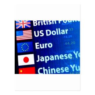 Cartão Postal Produtos temáticos da moeda do mundo