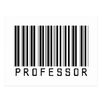 Cartão Postal Professor código de barras