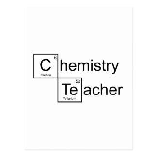 Cartão Postal Professor da química