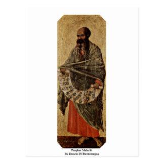 Cartão Postal Profeta Malachi por Duccio Di Buoninsegna