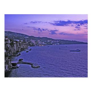 Cartão Postal Profundamente - roxo em Sorrento!
