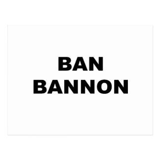 Cartão Postal Proibição Bannon